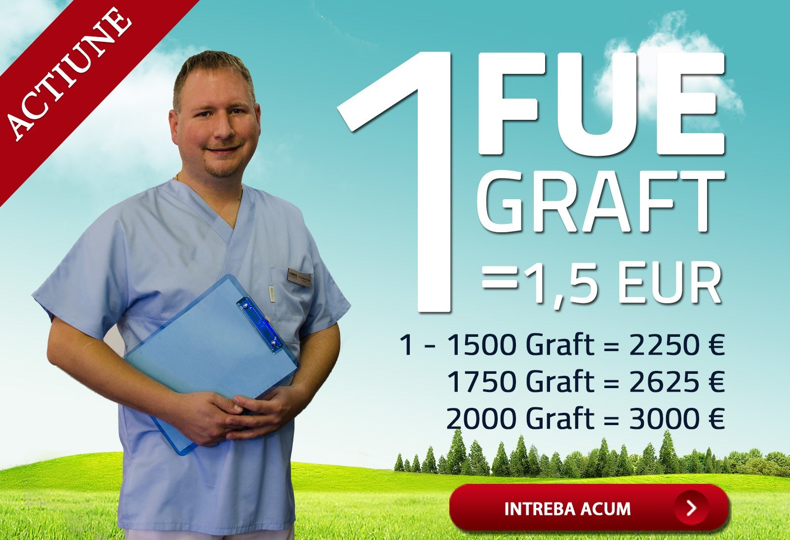 PHAEYDE Action: 1 FUE GRAFT = 1 EUR